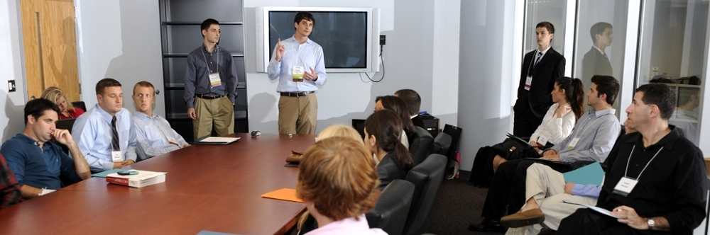 Presentation to students by executives