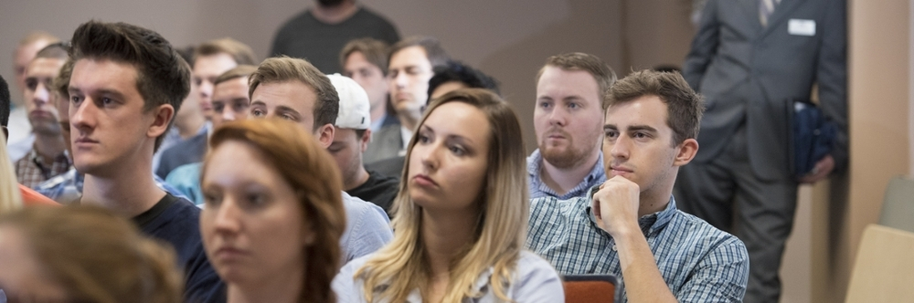 Students paying attention to a lecture