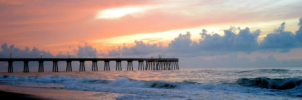 Wrightsville Beach, NC sunrise at the pier