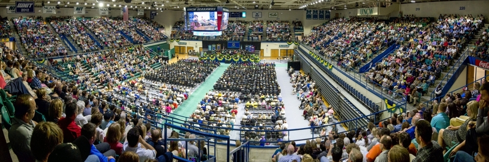 UNCW Commencement in Trask