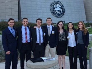 UNCW students at Dallas Federal Reserve Bank, March 31, 2017